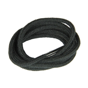 Black Fine Round Shoe Laces
